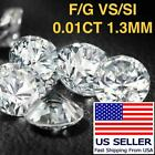 .01 Ct 1.3mm Loose Untreated Natural Diamond SI/VS Small Melee 1 Point Wholesale
