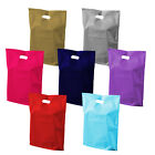 100x Coloured Plastic Patch Handle Carrier Bags 10x12