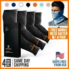 Basketball Arm Sleeves BLACK for Men Women Compression Sleeve Multi Color