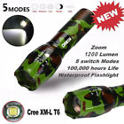 Camouflage Super Bright X800 Flashlight LED Zoom Military Torch G700