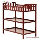 Wood Baby Changing Table with pad Cushion Newborn Infant Nursery Diaper Station