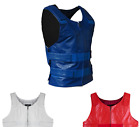 Colored Bullet Proof style Leather Motorcycle Vest bikers Club Tactical Vest Men