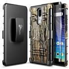"""For CoolPad Legacy 6.36"""" Case Armor Belt Clip Cover + Tempered Glass Protector"""