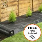 Thick Weed Control Ground Cover Heavy Duty Fabric with FREE Pegs | 1m - 5m Wide