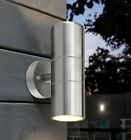 Stainless Steel GU10 Wall Light IP44 LED Double Outdoor Up & Down Lights Garden