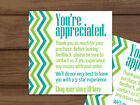 Thank you for your purchase chevron teal blue lime green business cards custom