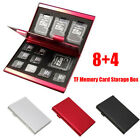 Metal Aluminum Micro TF-SD MMC Memory Card Storage Holder Protecter Case