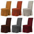 Kyпить 1/4/6pcs Bubble Lattice Elastic Chair Covers Spandex Dining Room Set Slipcover  на еВаy.соm