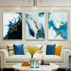 Blue Golden Canvas Painting Poster And Print Decor Wall Art Pictures For Room