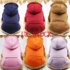 US Pet Dog Sweater Soft Dogs Clothes Hoodie Jumper Coat Puppy Cat Sports Apparel