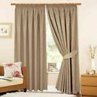 Jacquard Lined Thermal Pencil Pleat Curtains Vintage Pattern - Victoria Coffee
