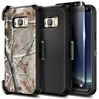For Samsung Galaxy S8 / S8 Plus Phone Case Belt Clip Holster Cover + Kickstand