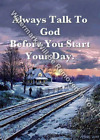 TALK TO GOD Inspirational Religious Art Print Matted/Unmatted R21