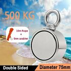 440-1100LB Round Double Sided Strong Neodymium Fishing Magnet Pulling Force