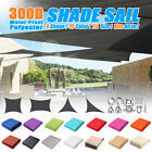 Waterproof Sun Shade Sail Rectangle/Triangle Patio Canopy Cover UV Block  🔥 T