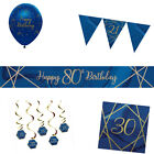 NAVY & GOLD GEODE Birthday Party Range - Tableware Balloons & Decorations {CP}