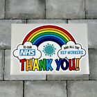 Rainbow Window / Wall Sticker Thank You Nhs And Key Workers Charity Decal - A
