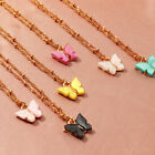 Acrylic Butterfly Pendant Necklace For Women Girl Clavicle Twist Chain Necklaces