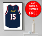 Denver Nuggets Basketball Jersey Personalised Name Wall Art Print Poster Gift on eBay