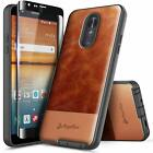 For LG Stylo 5/5V/5x/Stylo 5 Plus Case Shockproof Leather Cover + Tempered Glass