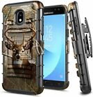 For Samsung Galaxy J7 Crown/J7 Refine/J7 Star Case Belt Clip Holster Phone Cover