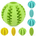 NE_ RUBBER BALL CHEW PET DOG PUPPY TEETHING DENTAL HEALTHY TREAT CLEAN TOYS BL