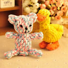 Cute Dog Bite-resistant Toys Hand-knit Chew Teeth Clean Cotton Rope Handle Knot