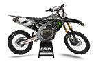 NEW DIRTX INDUSTRIES FACTORY MONSTER BLK COMPLETE GRAPHICS KIT YZ 85 125 250 450