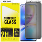 For OnePlus 8 Pro 5G Caseswill 3D Curved Tempered Glass Privacy Screen Protector