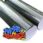 Black 5D Carbon Fibre Vinyl Car Wrap Extra Glossy Film Sticker Air Bubble Free