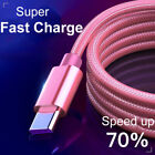 Type C USB Charge Cable 1m 2m Fast Charging Lead Data Cord Universal Type-C