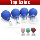 Set 4 Cups Anti-Cellulite Facial Cosmetic Cupping Massage Vacuum Glass Cups UK for sale  Shipping to Ireland