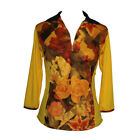 BNWT, Yellow and Floral Golf Top in 3/4 Long Sleeve