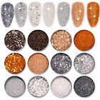 6 Boxes Nail Glitter Sequins Flakes Irregular Palliette Nail Art Powder Dust DIY