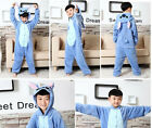 Unisex Animal Adult/Kids Blue Stitch Costume Kigurumi Onesise06 Hoodies Pajamas