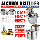 3/2POT 5Gal DIY Home Brew Distiller Moonshine Alcohol Stainless Copper Brew Kits