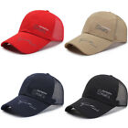 Unisex Mesh Breathable Hat Outdoor Sports Cap  Casual Baseball Peaked Sun Hat