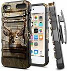 For iPod Touch 5th 6th 7th Gen Case, Armor Belt Clip Holster Cover + Kickstand