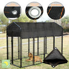 Outdoor Pet Cage Cover Wind Screen Dog Kennel 80 Sun Shade Crate Protector