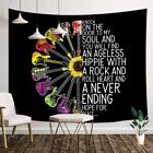 Music Guitar Sunflowers Peace Tapestry Wall Hanging for Bedroom Living Room Dorm