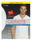 Mens T-Shirt 5 Pack V-Neck Hanes Ultimate Comfort Fit White Undershirt Bonus <br/> Official Hanes Brands Store -- First Quality Authentic