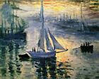 Sunrise, The Sea by Claude Monet Painting Artwork Art Paint By Numbers Kit DIY