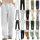 Kyпить Men's Casual Baggy Harem Pants Linen Beach Summer Yoga Long Trousers Plus Size на еВаy.соm