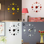 3D DIY Clock Roman Numbers Acrylic Mirror Wall Sticker Home Decor Mural Decals