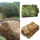 Military Camouflage Netting Hunting Camping Camo Army Net Woodland Desert Leaves