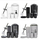 Kyпить 6PCS Colour Matching Shower Bathroom Accessory Set Soap Dish Dispenser Bin Brush на еВаy.соm