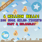 Animal Crossing New Horizons - Nook Miles Tickets & Bells   Fast Delivery