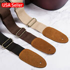 Guitar Strap Nylon Acoustic Electric Adjustable Black Brown Beige