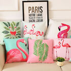 Summer Flamingo Throw Pillow Case Sofa Bed Home Decoration Cushion Cover Sanwood
