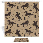 Cowboy with Noose Shower Curtain Complete Bathroom Set Waterproof Polyester